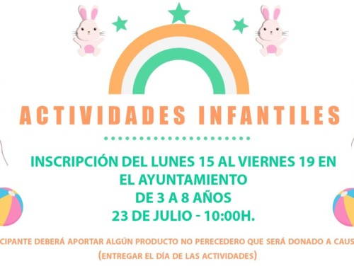 ACTIVIDADES INFANTILES FIESTAS DE SANTIAGO