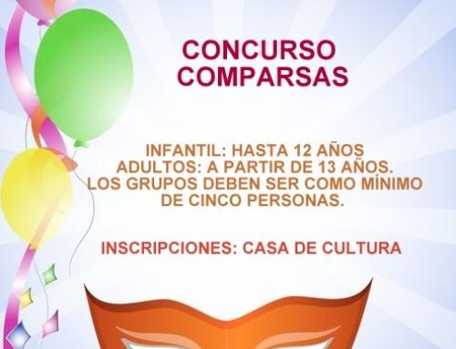 CARNAVAL 2020. CONCURSO DE COMPARSAS. INSCRIPCIONES EN CASA DE LA CULTURA.